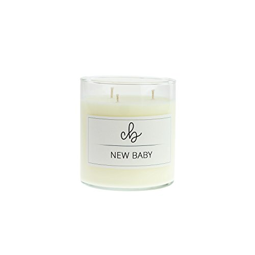 CandleBox Store - Handmade Soy Wax Candle, Baby Powder, Gardenia, and Clean Cotton Scented, 16.3 Ounces by CandleBox Store