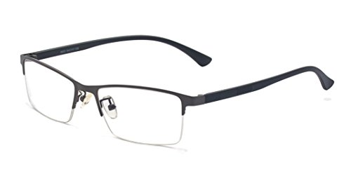 ALWAYSUV Half Frame Clear Lens Business Glasses Prescription Optical Glasses - Stylish Men Glasses