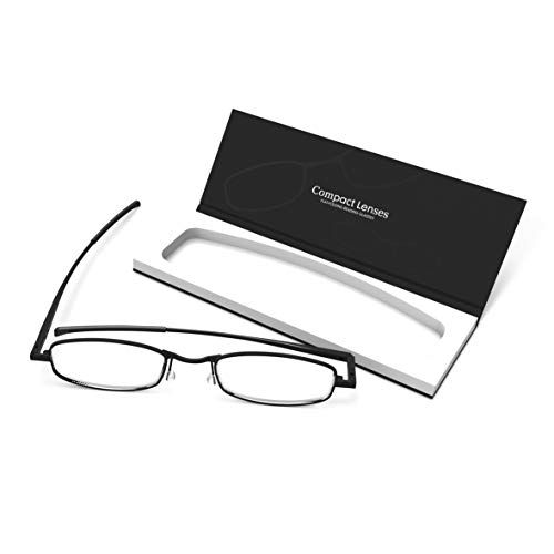(Compact Lenses Flat Folding-Reading Glasses Jet +1.5)