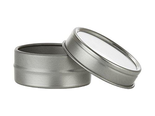 Wedding Tin - Nakpunar 24 pcs 1/2 oz Clear Top Tin Containers