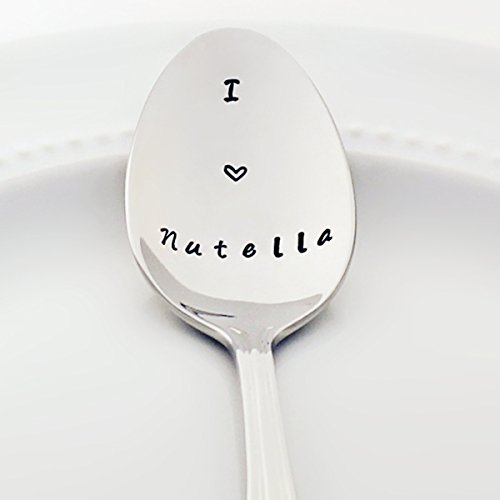 I (heart) Nutella - Stamped Spoon, Stamped Silverware - Unique Chocolate Lovers Gift for Her Idea