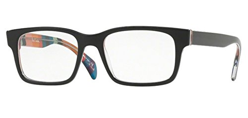 - PAUL SMITH PIRRONI 8033 - 1618 EYEGLASSES ONYX/ARTISTS STRIPE W/ DEMO LENS 50MM