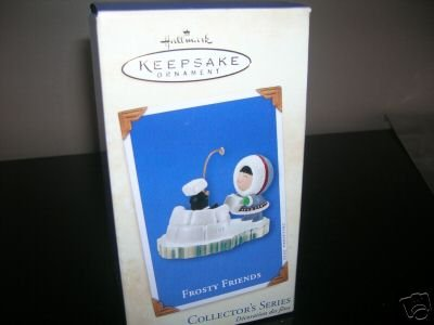 Frosty Friends -# 23 in series building igloo RARE 2002 hallmark ornament ()