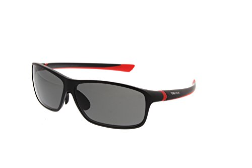 Tag Heuer 27 Sport Sunglasses Black Red Frame Polarized G...
