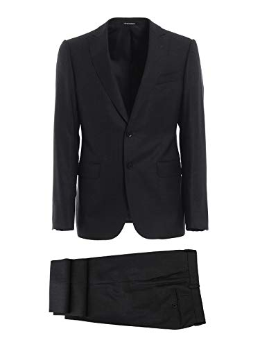 Emporio Armani Men's 11Vmgb11610631 Grey Wool Suit