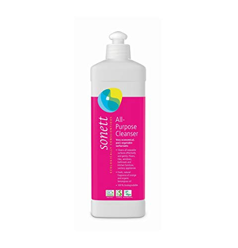 Sonett Organic Universal All Purpose Cleaner 17 fl.oz/ 0.5L Cleans All wipeable Surfaces Effectively and Gently: Floors, Tiles, Windows, Bathroom and Kitchen Furniture, Sanitary appliances