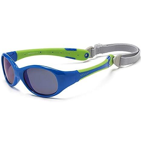 KOOLSUN - Flex - gafas de sol para bebe - Blue Lime - 0-3 ...