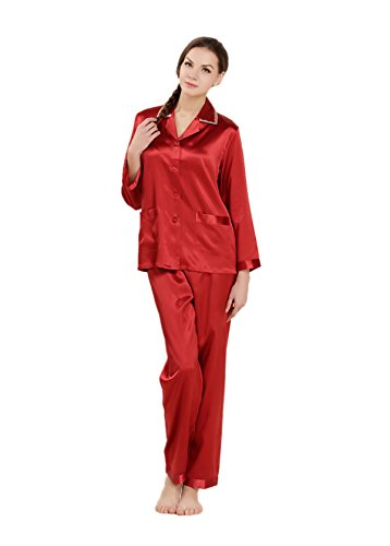 AORUI - Pijama - para mujer Rojo