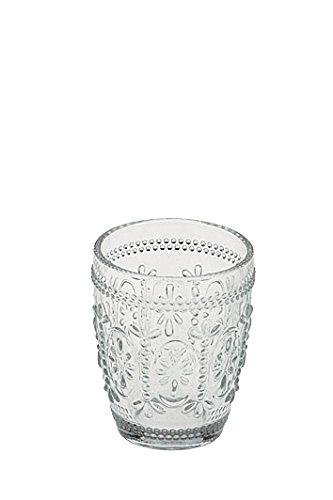 Juego de 6 vasos de cristal con diseño retro y gran calidad.
