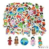 Kids Around the World Foam Self Adhesive Shapes (pack 100)