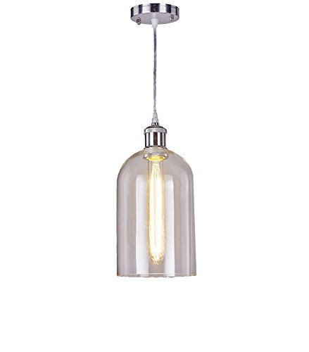 New Galaxy Lighting Modern Industrial Edison Vintage Style Glass Pendant 1-Light Hanging Ceiling Lighting Lamp