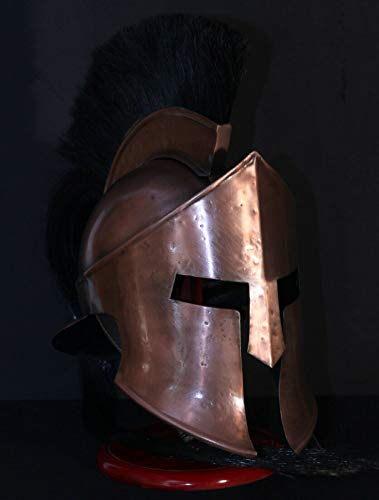 300 Movie King Leonidas Spartan Helmet LARP Halloween Costume Replica Copper ()