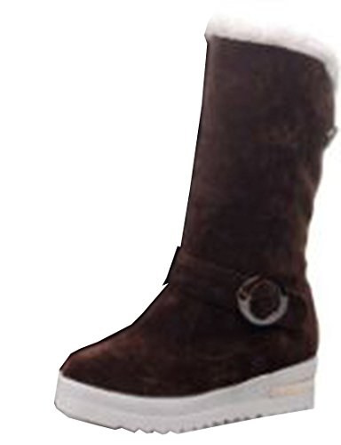 Laruise Women's Snow Boots Brown DD2Qyc