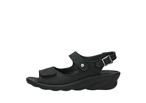 Wolky Comfort Sandalen 03125 Scala - 900 schwarz nubuk - 38