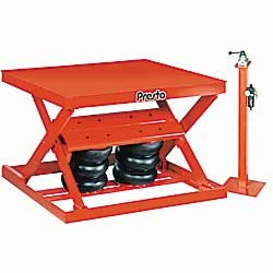 Presto Pneumatic Scissor Lift Tables - 2000-Lb. Capacity - 36X48