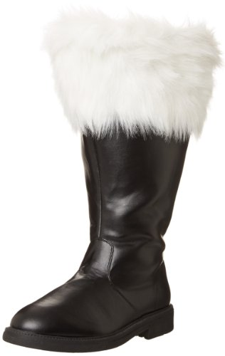 Funtasma Men's Santa, Black/What Faux Fur, Large/12-13 M US