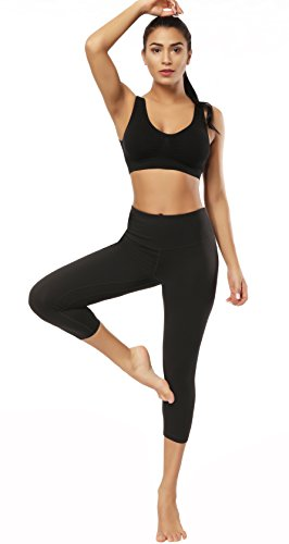Fengbay Capris Leggings, Capris Yoga Pants Tummy Control Workout Running 4 Way Stretch High Waist Capris Workout Leggings by Fengbay (Image #5)