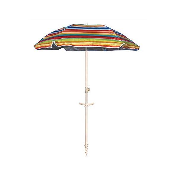 Ombrellone da spiaggia in policotone diam. 200cm, ombrellone mare portatile con custodia con tracolla, ombrellone… 1 spesavip