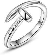 I's White Gold Plated Trust Love Nail Fashion Ring Holiday Gifts (6)