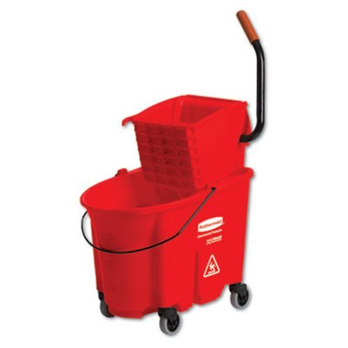 WaveBrake Bucket/Wringer Combination Packs - red wave brake side press combo pack 35 qt cap (Rubbermaid Side Press Wringer compare prices)