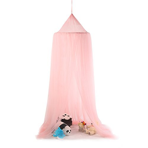 (Princess Bed Canopy,OUTAD Kids Play Tent Bedding Playing Reading with Children Round Lace Dome Netting Curtains)