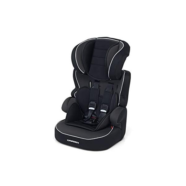 Foppapedretti Babyroad - Seggiolino Auto, Gruppo 1-2-3 (9-36 Kg) per Bambini da 9 Mesi a 12 Anni Circa, Nero (Noir) 1