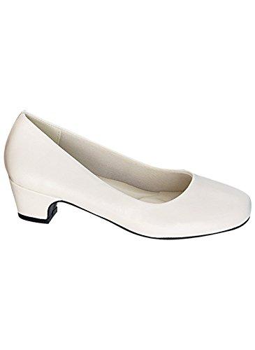 Carol Wright Gifts Basic Pump, White, Size 9-1/2 (Medium)