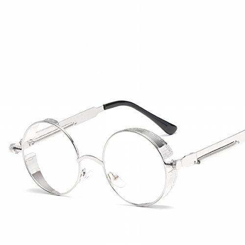 3ddd1126a1 Outlet gafas de Sol de metal de marco redonda personalizado Espejo de  Resorte piernas Reflexivo brillante