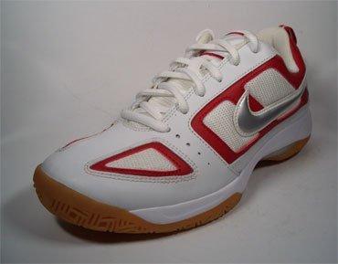 Nike MC 7th Heaven Indoor Zapatos 316406101blanco de color rojo de plata tamaño euro 38/US 7/UK 4,5/24cm