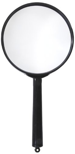 Educational Magnifier (American Educational Plastic Frame Magnifier with Black Handle, 3X Magnification, 2