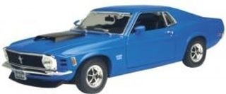 Blue 1970 Ford Mustang Boss 720 1:18 Scale Die Cast Car by Motor Max 18 1970 Ford Mustang Boss