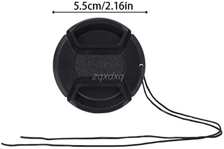 Universal 55mm Camera Lens Cap Protection Cover Lens Cover With Anti-lost Rope AUG/_26 Dropship Value-5-Star