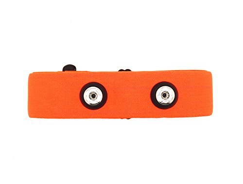 Bestart Universal Replacement Heart Rate Monitor Soft Strap for Garmin Polar Wahoo (Orange)