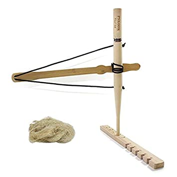 PSKOOK Bogen-Bohr-Kit Feuerstarter Primitives Holz /Überlebenspraxis f/ür den Unterricht nach au/ßen gebundene Ausbildung Bildungsspielzeug