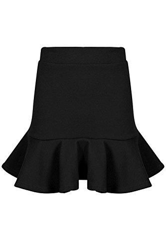 - Be Jealous Womens Peplum Ruffle Frill Hem Bodycon Ladies Stretchy High Waisted Mini Skirt
