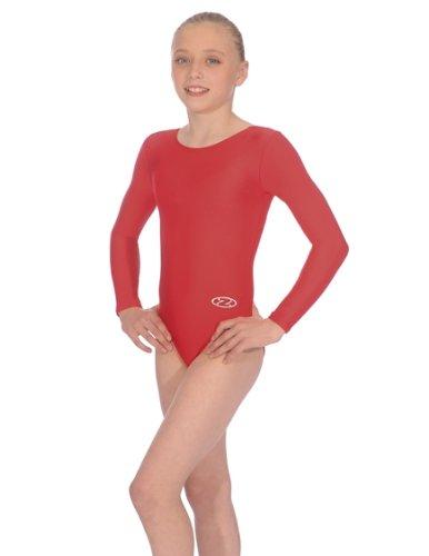 The Zone Z102RHA long-sleeved gymnastics leotard, nylon/ lycra