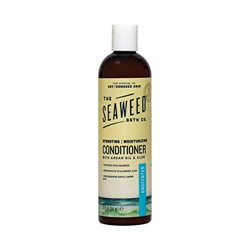 (The Seaweed Bath Co. Moisturizing Conditioner, Unscented, Natural Organic Bladderwrack Seaweed, Vegan and Paraben Free, 12oz)