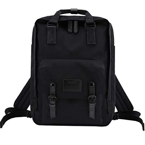 Himawari School Laptop Backpack for College Large 17 inch Computer Notebook Bag Travel Business Backpack for Men Women,Black