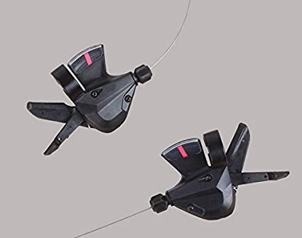 Enticerowts V/élo Shifter Bike AccessoriesAdaptateur 1 Pair 3 x 8 Speed VTT Bicycle Left Right Shifter pour Shimano Acera SL-M310 1