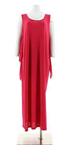 Attitudes Renee Slvless Tie Front Knit Maxi Dress Rose Petal L New A301355 from Attitudes by Renee