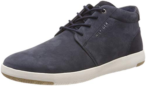 Altas Zapatillas Up Hombre Lace Hilfiger midnight Tommy Azul Light 403 Para Boot Nubuck x6Aq0gwH