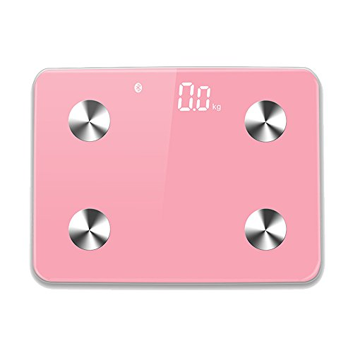 Qingta Bluetooth Smart Fat Scale Body Monitor Body Composition for Your Family(Pink) by Qingta