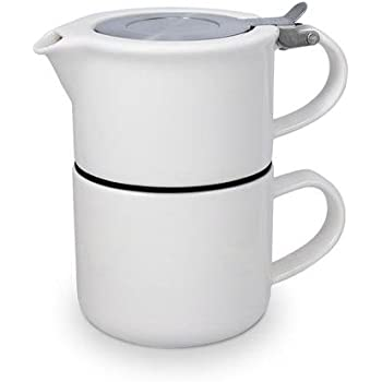 FORLIFE Tea for One with Infuser 14 ounces, White