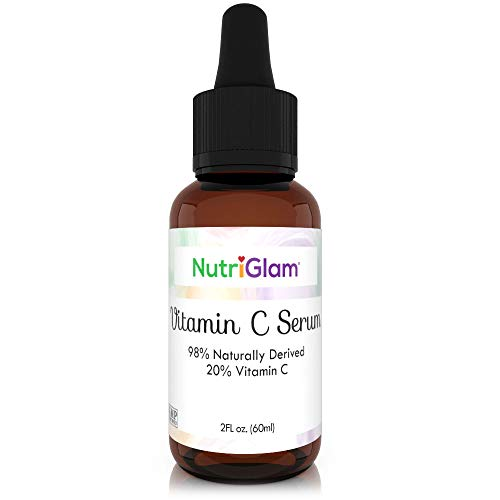 NutriGlam Vitamin C Anti-Aging Serum   Hydrating Anti-Wrinkle Skin Restoration & Brightening   Repairs Dark Spots, Fine Lines & Skin Discoloration for Face & Hands   Natural Antioxidant Booster