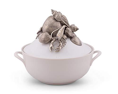 Vagabond House Marine Life Stoneware Soup Tureen 11.25