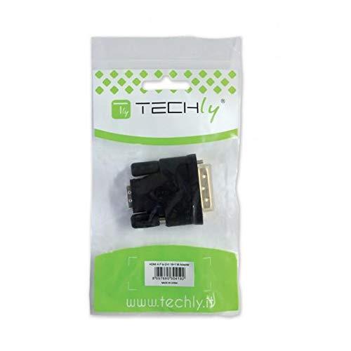 Techly 304451 Adattatore DVI a VGA analogico F//M Nero