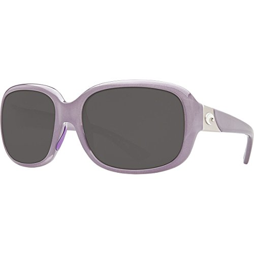 Costa Del Mar Gannet Sunglasses Shiny Sea Lavender Crystal/Gray 580Plastic