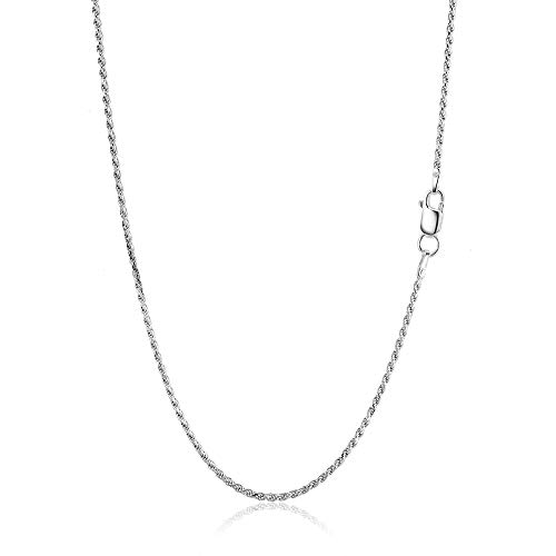 H & I Jewelers Sterling Silver 925 Italy Diamond Cut Rope Chain 1.2MM - 2.5MM 16