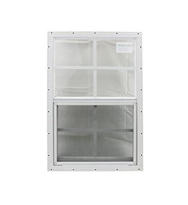 12 X 18 Playhouse Window White J-channel, Chicken Coop Window, Shed Window