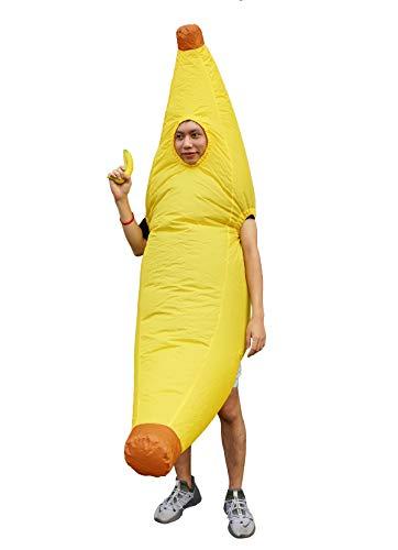 Seasonblow Inflatable Banana Costume Adult Halloween Costumes Banana Man Suit for Mens & Womens